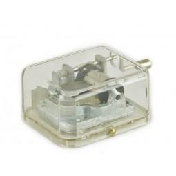 Manivelle dans une boîte en résine avec la Tour Eiffel imprimée sur le dessus