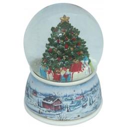 Boule de neige sapin de Noël