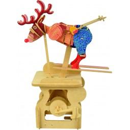 "Kit d'assemblage en bois ""Elan skieur"""
