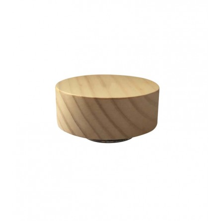"""Wooden base turns to a """"Silent night"""". Diam. 3.9 inch."""