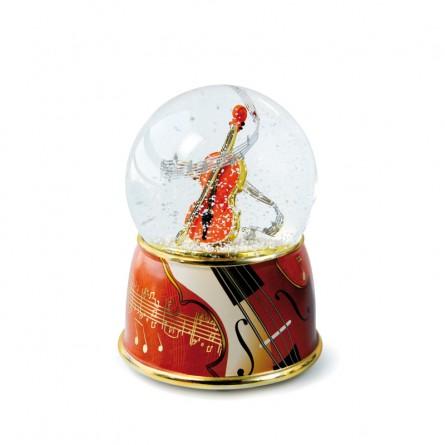 "Glitter globe ""Violin"""