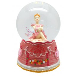 "Glitter globe ""sitting Ballerina"""