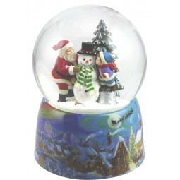 Boule de neige fair un bonhomme de neige