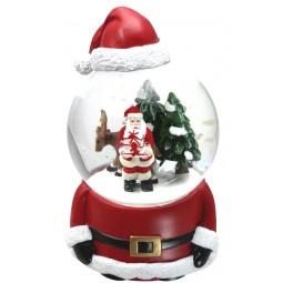 Boule de neige en forme de Père Noël