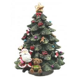 Sapin de Noël Père Noël et ourson