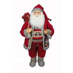 Petit Papa Noël avec mouvement de 91 cm