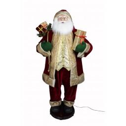 Grand Papa Noël chanteur et danseur de 150 cm