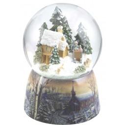 Boule de neige cabane forestière
