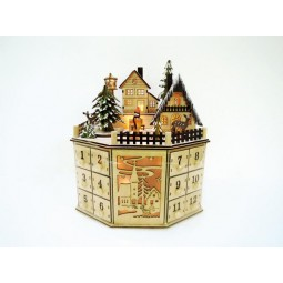 Wooden Advent calendar with 24 drawer