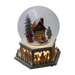 Boule avec maison en bois
