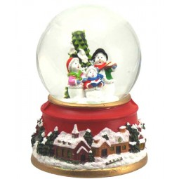 Snow globe snowmen 80 mm