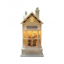 """Maison de Noël blanche """"Toy Shop"""""""