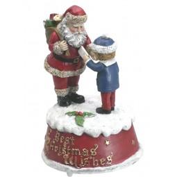 Père Noël avec enfant