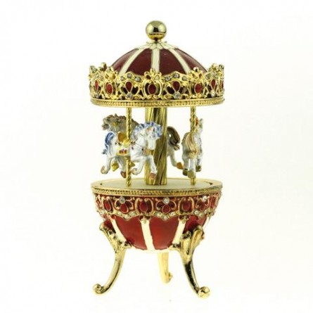 "Jewelry egg ""Carousel red"""