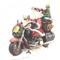 Père Noël sur sa moto