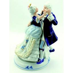 Couple danseur en porcelaine