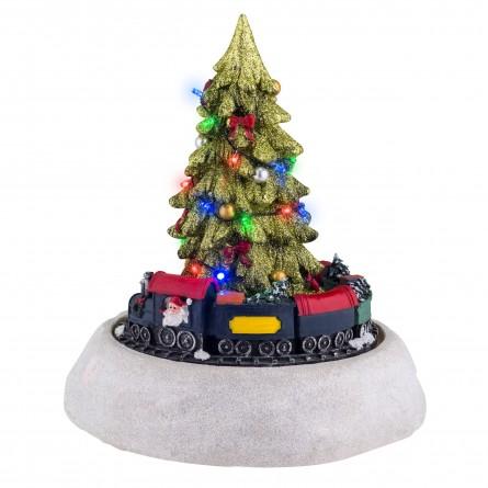 Christmas tree with train