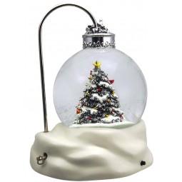 Boule de neige forme réverbère avec sapin de Noël