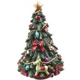 Sapin de Noël avec cheval à bascule