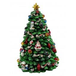 Sapin de Noël décoré et illuminé