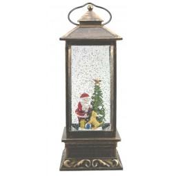 Square Lantern with Santa scene