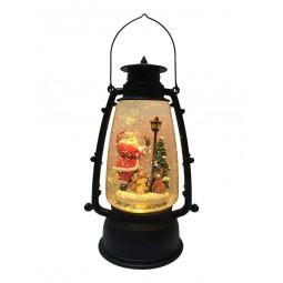 Lanterne noire Père Noël