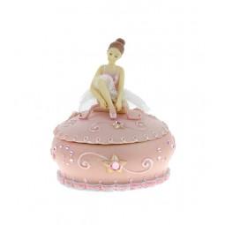 Bonbonnière rose avec ballerine