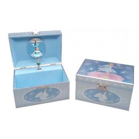 Boîte à bijoux scintillante ballerine dansant