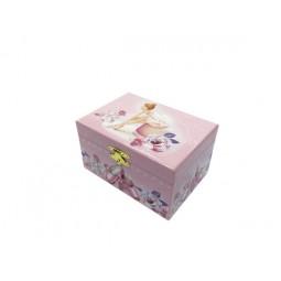 Boîte à bijoux rose ballerine