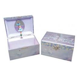 Boîte à bijoux scintillante ballerines et cygnes