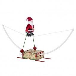 Père Noël sur monocycle