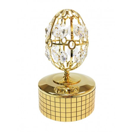 Gold plated iron musical egg