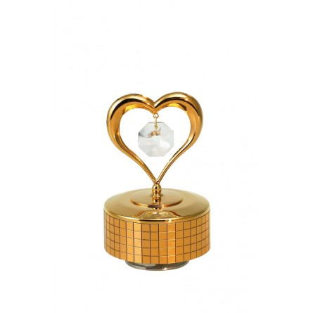 Gold plated iron musical heart