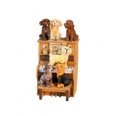 Music box dogs at the piano