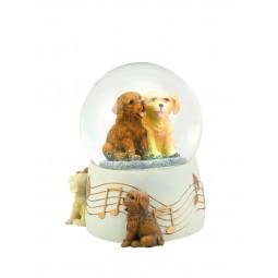 """Glitter globe """"2 dogs"""""""