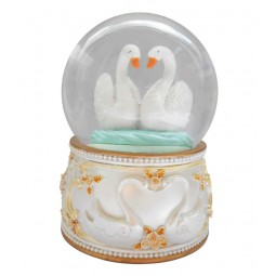"Glitter globe ""swan"""