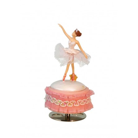 Ballerina in a white dress