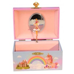 Jewelry musical box unicorn and fairy