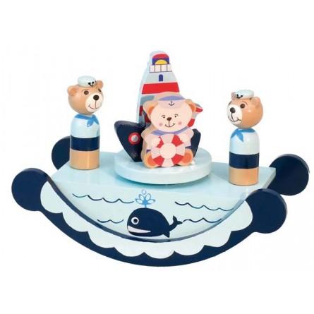 Wooden sailor bears