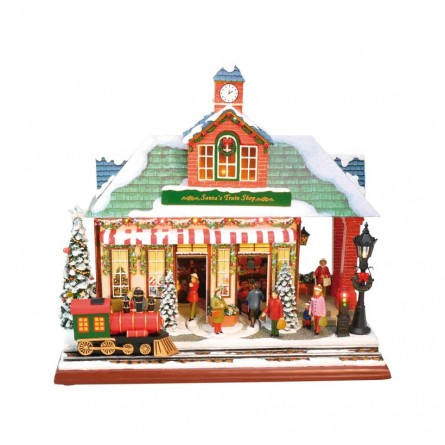 """Musicbox """"Decorated train station"""