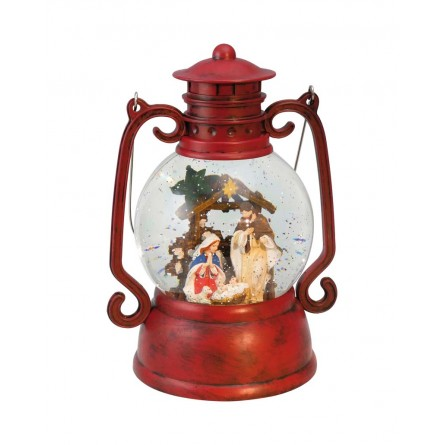 """Musicbox """"Red lantern in wood-look"""
