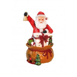 "Musicbox ""Santa with his bag full of gifts"""