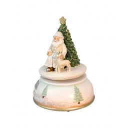 "Musicbox ""Santa with reindeer"""
