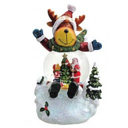 "Snowglobe ""Reindeer"" with illumination"