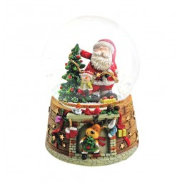 "Snowglobe ""Santa at the tree"""