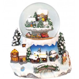 "Snowglobe ""mountain landscape with trains"""