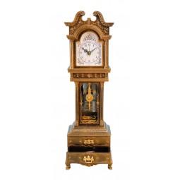 Horloge avec une montre véritable et deux petits tiroirs