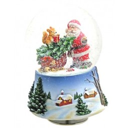 "Snowglobe ""Santa with tree and squirrel"""