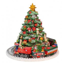 "Musicbox ""Christmas-tree with train"""