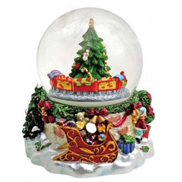 "Snowglobe ""Train and tree"""
